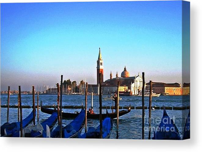 Water Canal Canvas Print featuring the photograph Venezia City Of Islands by Phillip Allen