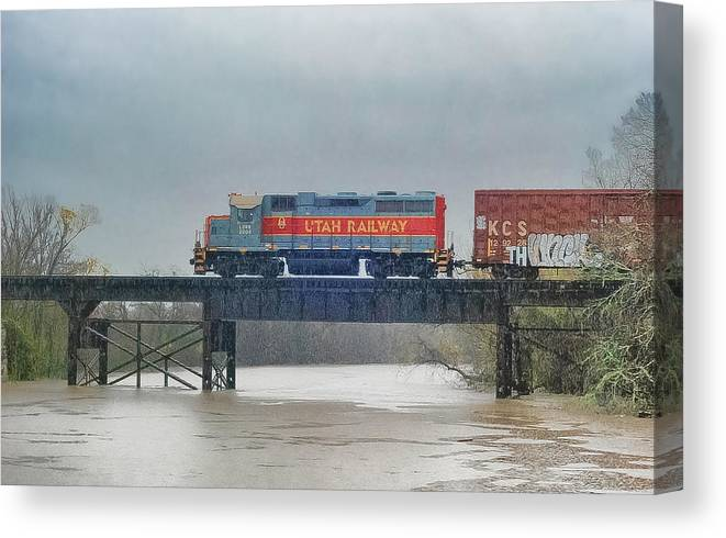 Vermilion River Canvas Print featuring the photograph Vermilion River Train by Kevin Ste Marie