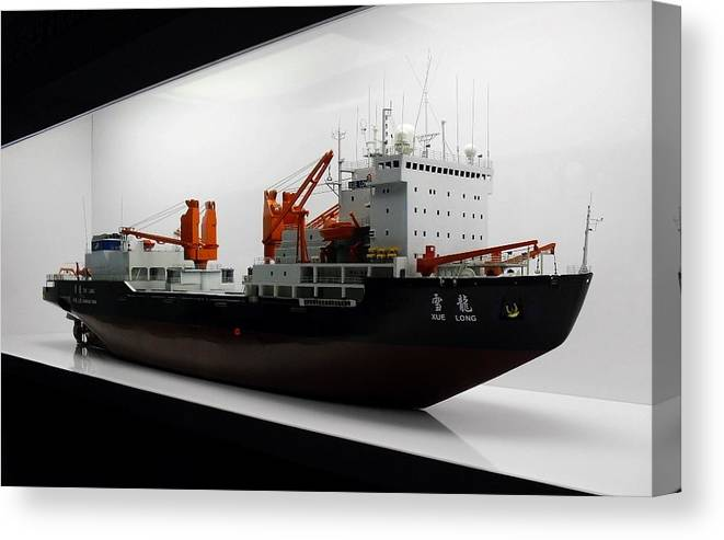 Ice Breaker Canvas Print featuring the photograph Xue Long Replica by Mhiss Little