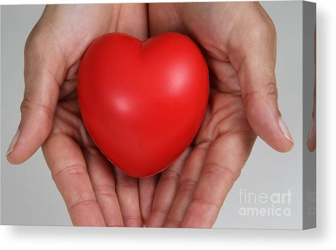 Body Canvas Print featuring the photograph Heart Disease Prevention by Photo Researchers, Inc.
