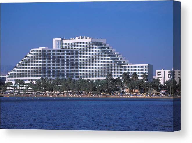 Luxury Canvas Print featuring the photograph Leonardo Club Hotel In Eliat by Carl Purcell