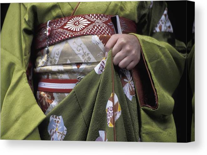 Photography Canvas Print featuring the photograph Midsection Of Apprentice Geisha - Maiko by Axiom Photographic