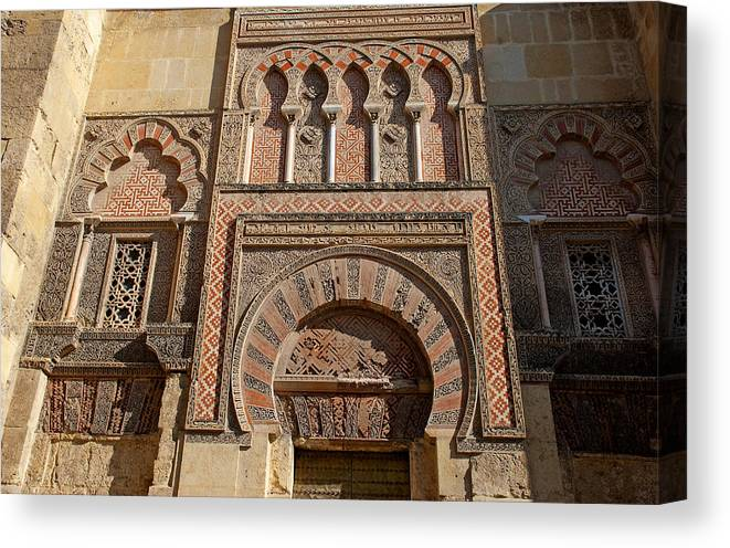 Spain Canvas Print featuring the photograph Moorish Architecture by Perry Van Munster