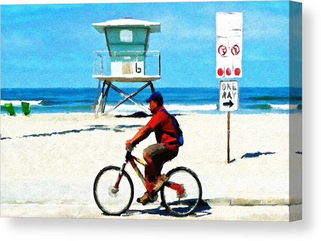 People Canvas Print featuring the painting My Way by Brian D Meredith