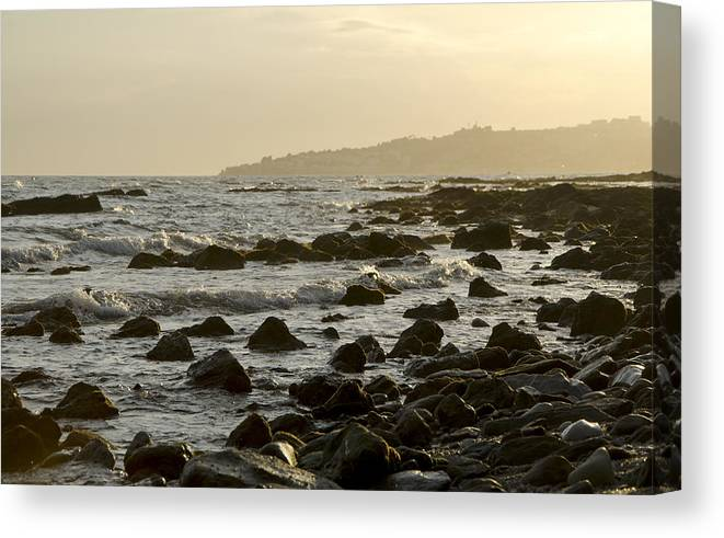 Spain Canvas Print featuring the photograph Rocky Sea by Perry Van Munster