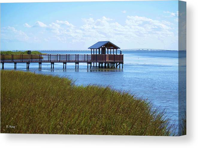Roena King Canvas Print featuring the photograph Spi Birding Center Boardwalk by Roena King
