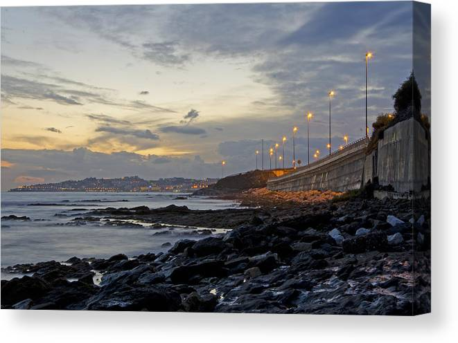 Spain Canvas Print featuring the photograph Sunset By The Sea by Perry Van Munster