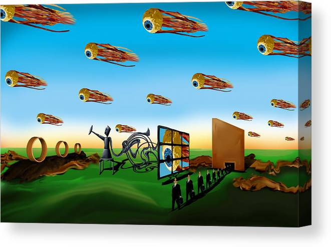 Surreal Canvas Print featuring the digital art This Modern World by AW Sprague II