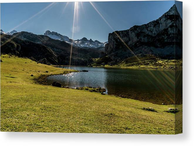 Spain Canvas Print featuring the photograph Glacier Formed by Ric Schafer