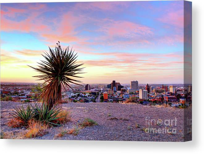 El Paso Canvas Print featuring the photograph El Paso, Texas by Denis Tangney Jr
