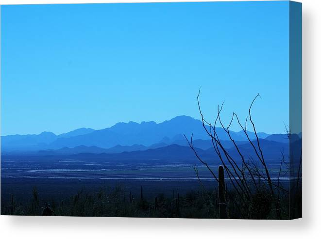 Blue Canvas Print featuring the photograph Blue Mountain by Adrienne Christian