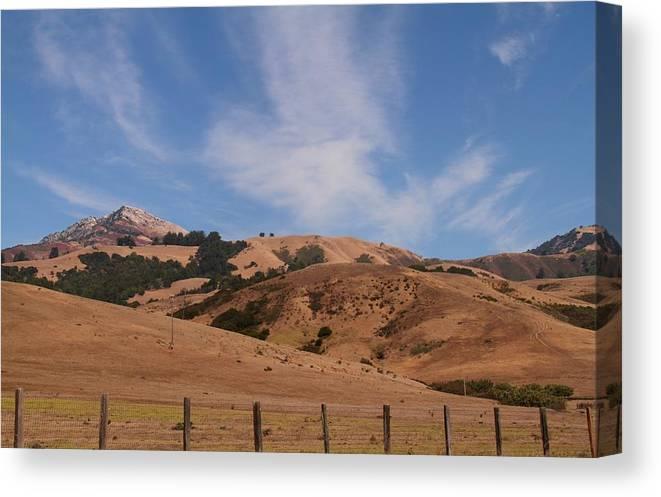 California Canvas Print featuring the photograph California Hills by Benji Alexander Palus