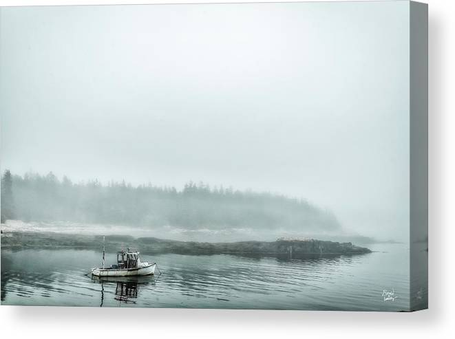 Acadia Canvas Print featuring the photograph Foggy Morning On Schoodic by Gestalt Imagery