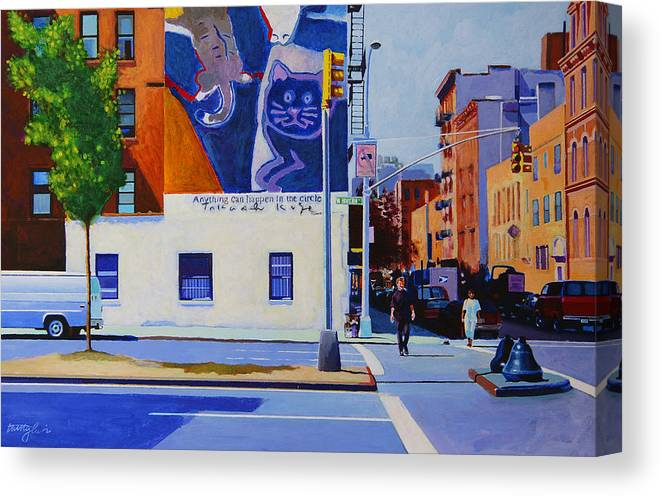 Houston Street Canvas Print featuring the painting Houston Street by John Tartaglione