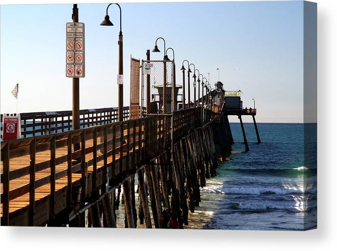 Imperial Beach Pier Canvas Print featuring the photograph Imperial Beach Pier by Christopher Woods