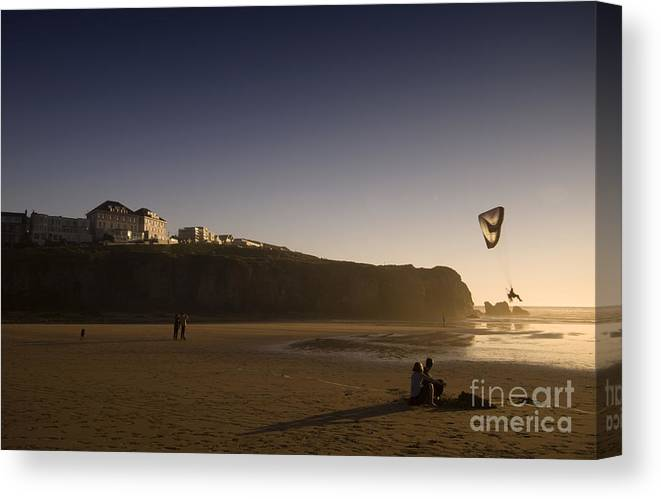 Cornwall Canvas Print featuring the photograph in the Cornwall by Angel Ciesniarska