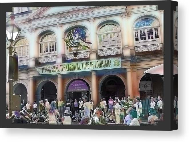 New Orleans Canvas Print featuring the photograph It's Carnival Time by Linda Kish