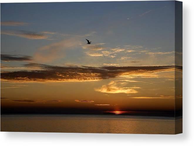 Sunset Canvas Print featuring the photograph Lanesville Sunset by AnnaJanessa PhotoArt