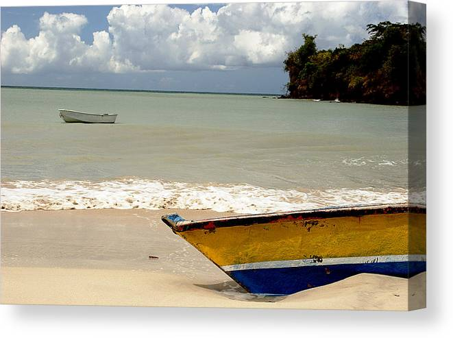 Boat Canvas Print featuring the photograph Morne Rouge Boats by Jean Macaluso