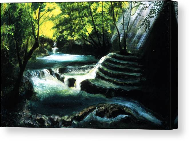 My Secret Place Canvas Print featuring the painting My Secret Place by Ione Citrin