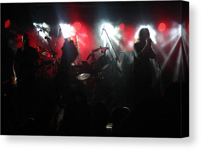 New Model Army Concert Lakefest 2015 Canvas Print featuring the photograph New Model Army by Andy Lloyd