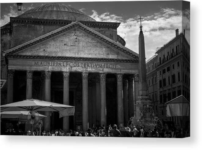 Canvas Print featuring the digital art Pantheon by Chris Locke