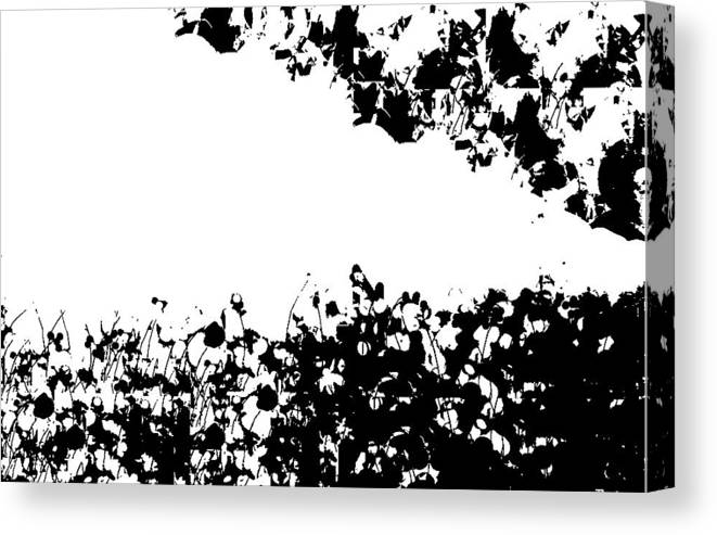 Black White Memories Canvas Print featuring the digital art Pattern Of Memories by Gracey Tran