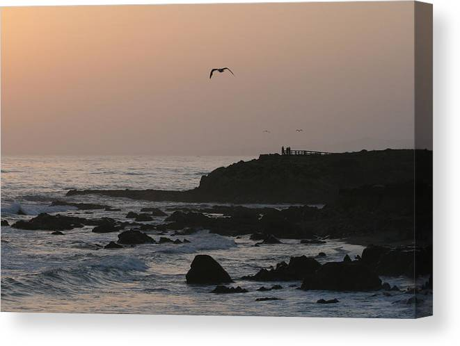 Sunset Canvas Print featuring the photograph Peaceful Evening by Deborah Molitoris