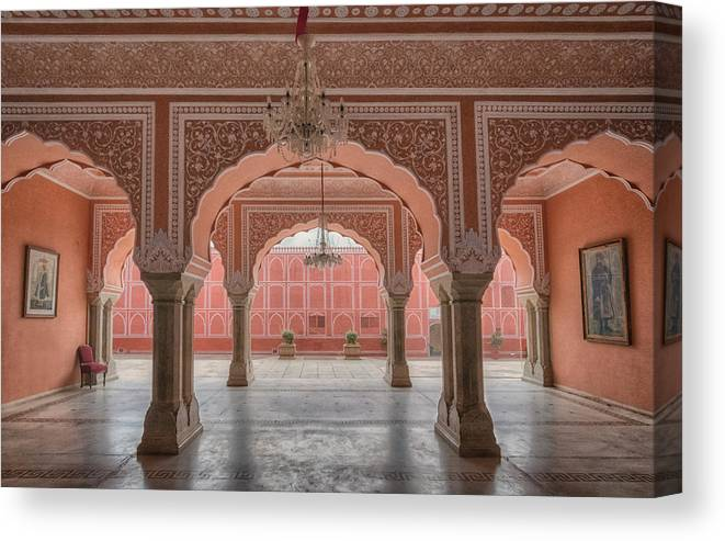 India Canvas Print featuring the photograph Pink Palace by Bo Nielsen