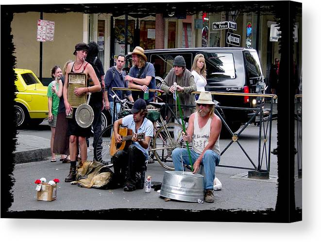 New Orleans Canvas Print featuring the photograph Royal Street Musicians by Linda Kish