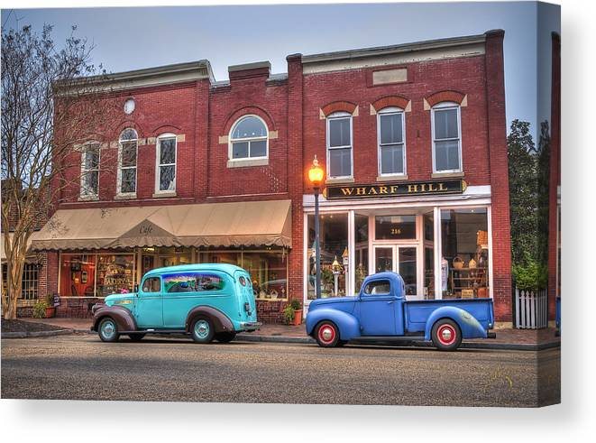 Smithfield Canvas Print featuring the photograph Saturday Morning On Main Steet by Williams-Cairns Photography LLC