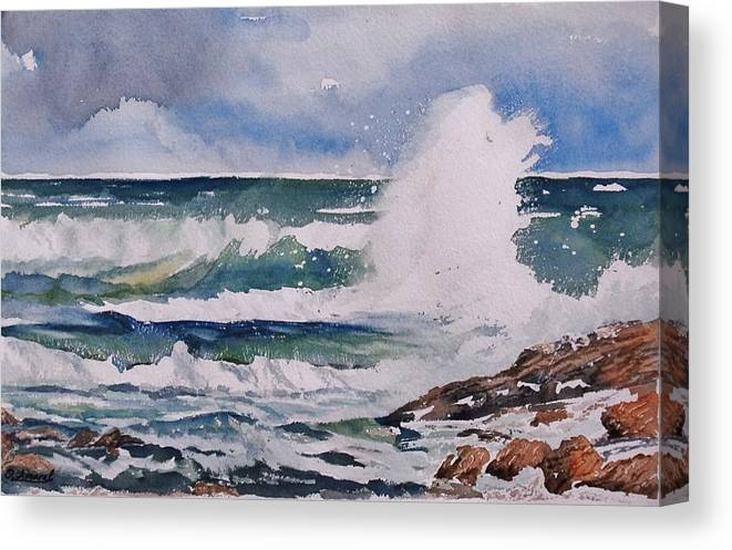 Painting Canvas Print featuring the painting Sea Spray by Olga Amaral