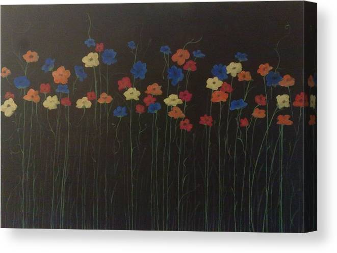 Spring Canvas Print featuring the painting Spring Burst by Gousalya Siva