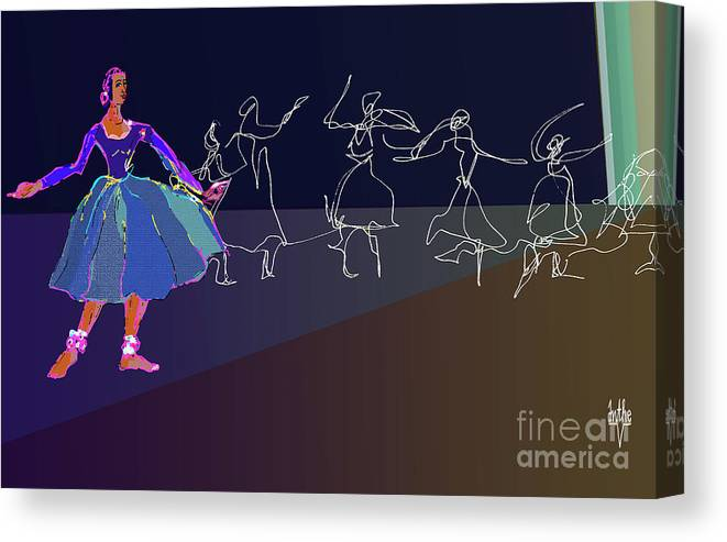 Kat Ah Canvas Print featuring the digital art Stage Presence by Anthe Capitan-Valais