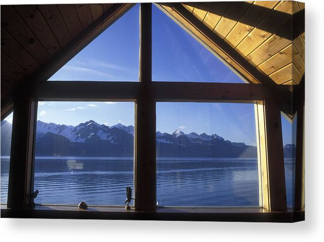 Windows Canvas Print featuring the photograph Sunrise Over Resurrection Bay From Salt by Rich Reid