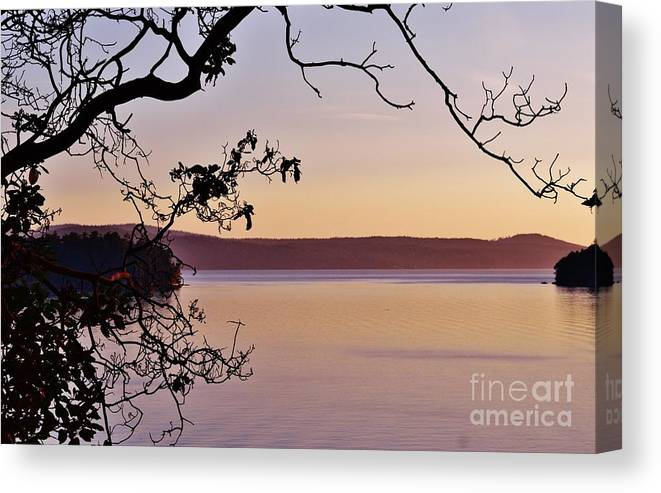 Sunset Canvas Print featuring the photograph Sunset On Orcas by Laurie Runyan