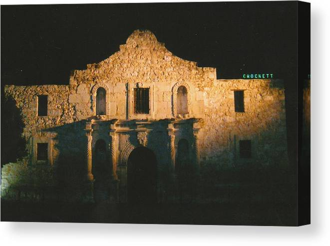 Photo Canvas Print featuring the photograph The Alamo by Tara Kearce