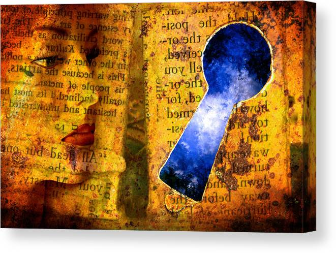 Key Canvas Print featuring the photograph The Key Hole by Andrew Giovinazzo