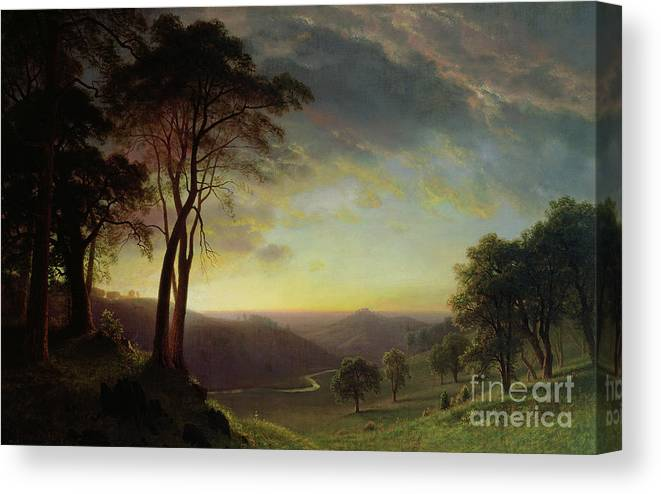 Albert Canvas Print featuring the painting The Sacramento River Valley by Albert Bierstadt