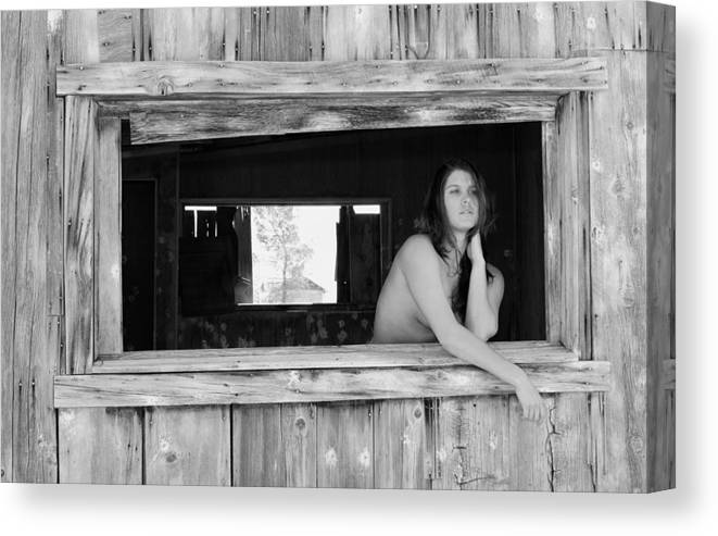 Female Canvas Print featuring the photograph The Window by Brad Alexander