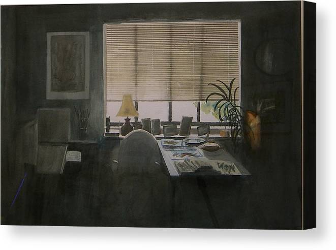 Window Canvas Print featuring the painting There Is Light by Jan Rapp