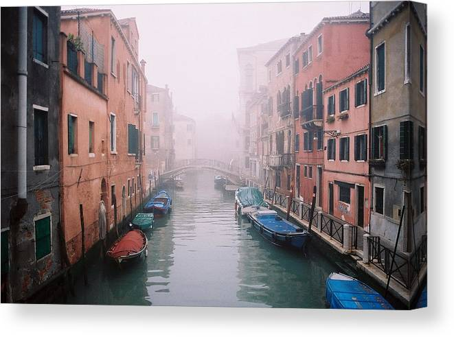 Venice Canvas Print featuring the photograph Venice Canal I by Kathy Schumann