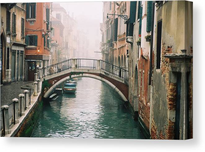 Venice Canvas Print featuring the photograph Venice Canal II by Kathy Schumann