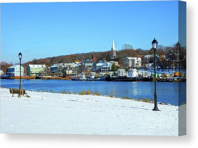 New Haven Canvas Print featuring the photograph Winter In New Haven by Denis Tangney Jr