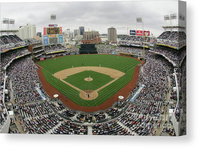 Scenics Canvas Print featuring the photograph Chicago Cubs V San Diego Padres by Donald Miralle