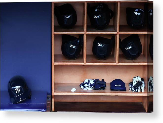 Headwear Canvas Print featuring the photograph Kansas City Royals V New York Yankees 1 by Elsa