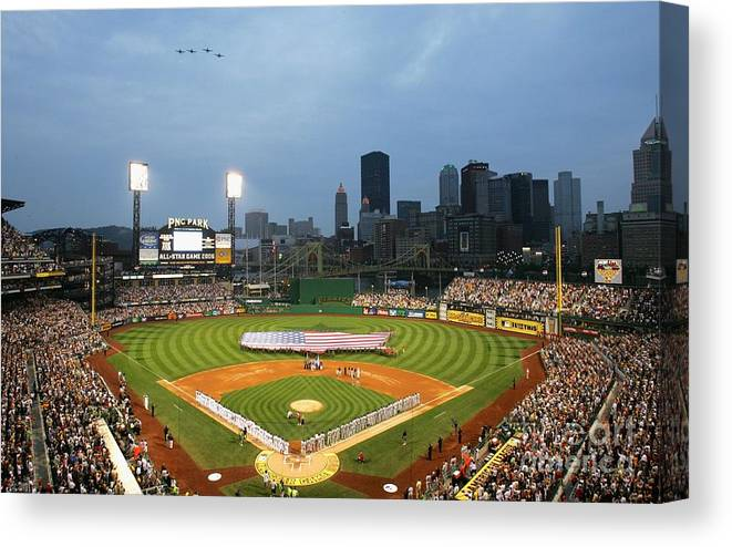 People Canvas Print featuring the photograph 77th Mlb All-star Game by Jamie Squire