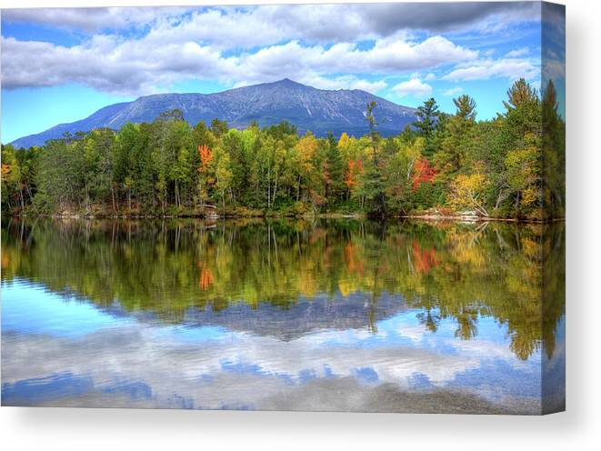 Scenics Canvas Print featuring the photograph Mount Katahdin by Denistangneyjr