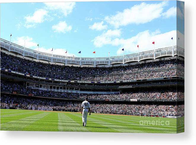 American League Baseball Canvas Print featuring the photograph San Francisco Giants V New York Yankees by Elsa