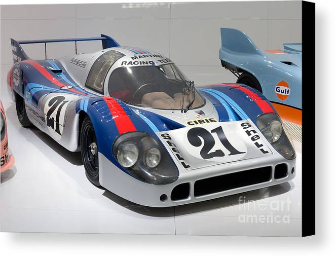 3d Canvas Print featuring the photograph 1971 Porsche 917 Lh Coupe by Paul Fearn